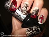 gothic loli nail art 2