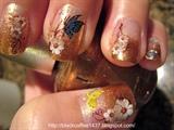 Sticker decay nail art