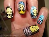 Emo kid nail art