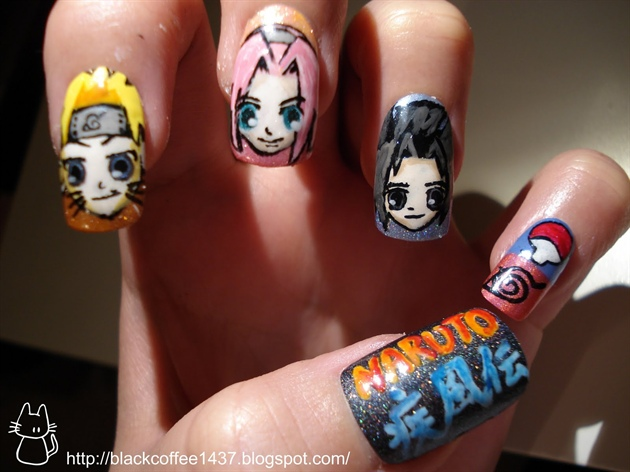 Naruto nail art - Nail Art Gallery