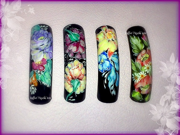 Zhostovo Painting Nail Art Gallery