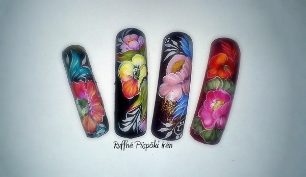 Zhostovo Miniature Painting Nail Art Gallery