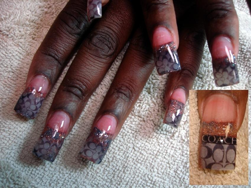 Magazine art coach nails - Nail Art Gallery
