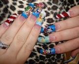 Disney Nails colored acrylic