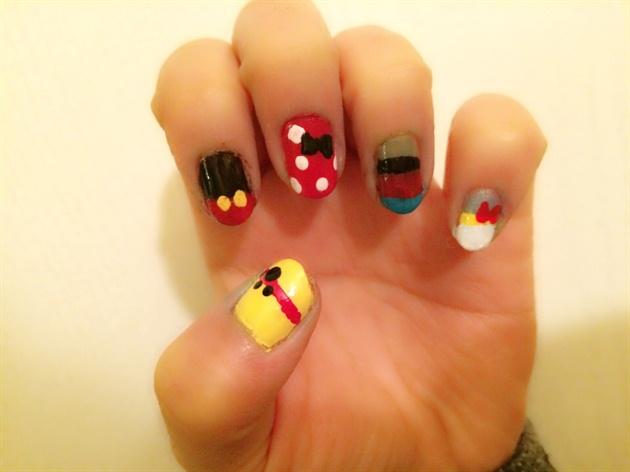Character Design Nails : Disney character nail designs nails gallery