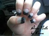 Black Halloween Goth Nails