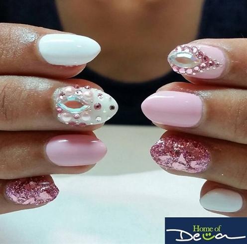 Pink Bling Nails