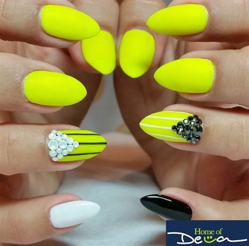 Matte Neon Nails
