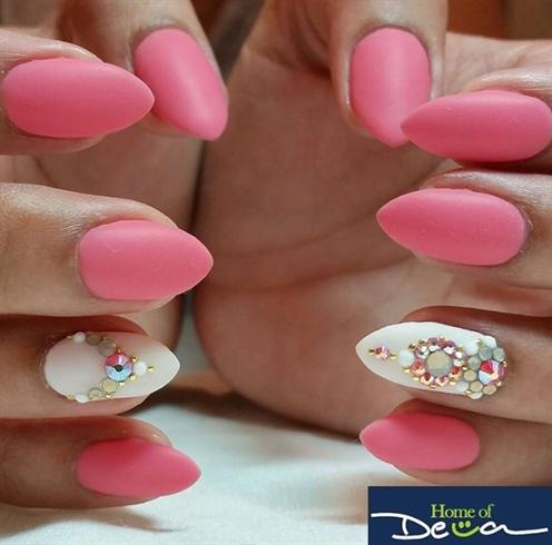 Matte Bling Nails
