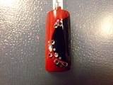 Red elegance nail art design
