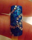 Funky circles nail art design