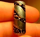 Elegant waves nail art design