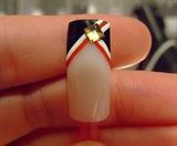 Retro love nail art design