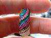Dotty rainbow nail art design