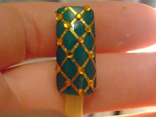 Xmas nail art design