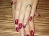 Stamped Valentine's Day nails