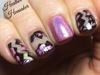 Negative Space foil Nails