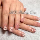 Acrylic Nails With 3D nail Art