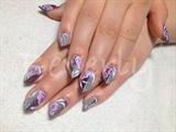 Purple n silver edge