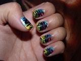 Colorful Retro Zebra