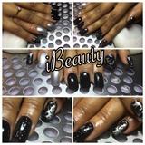 Black Silver gel polish