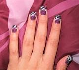 Purple Zebra Glitter