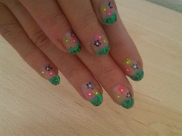 #greenglittertip#