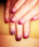 nail art marble flames