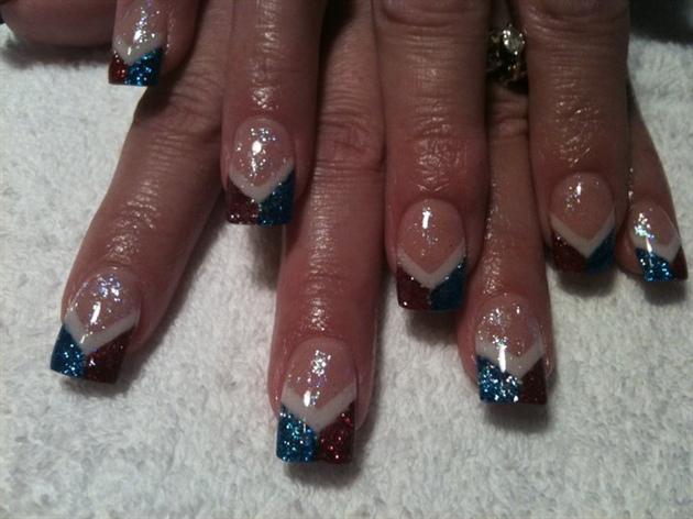Patriotic Nails Nail Art Gallery