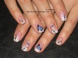 CND Negligee & Swarowski Capri Blue