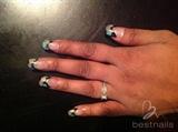 Pebble nail art