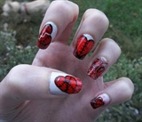 Stitched (broken) Heart nails