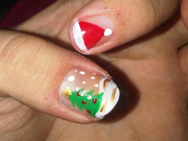 Christmas nails - short
