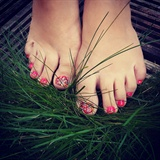 Pedicure with nail art