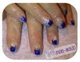 purple glitter & stripes