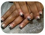 black & silver french twist