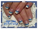 French with blue twist