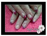 Glitter pink & dots