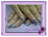 Silver & purple glitter