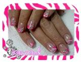 hot pink & white zebra
