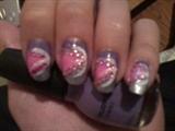 sliver, pink, purple