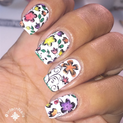 Lead Light Flowers Nails