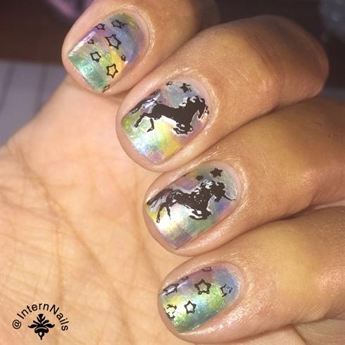 Holographic Nail Polish With Unicorn