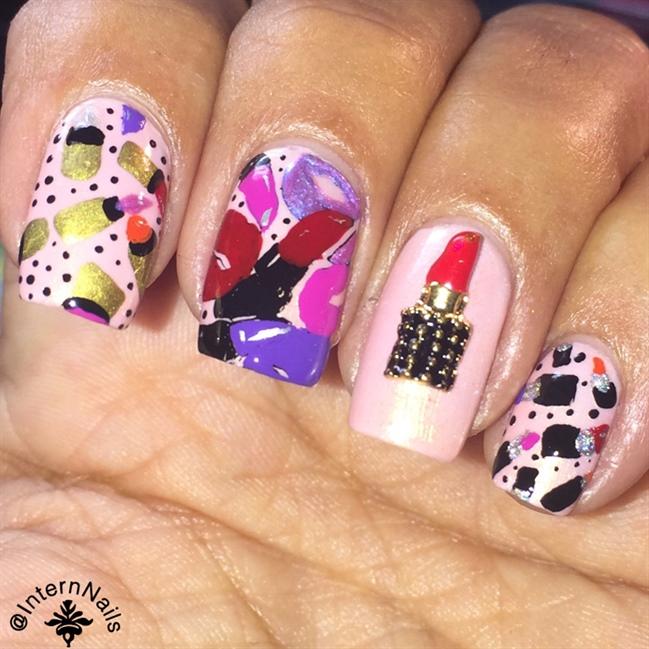 Lipstick Nails - Nail Art Gallery