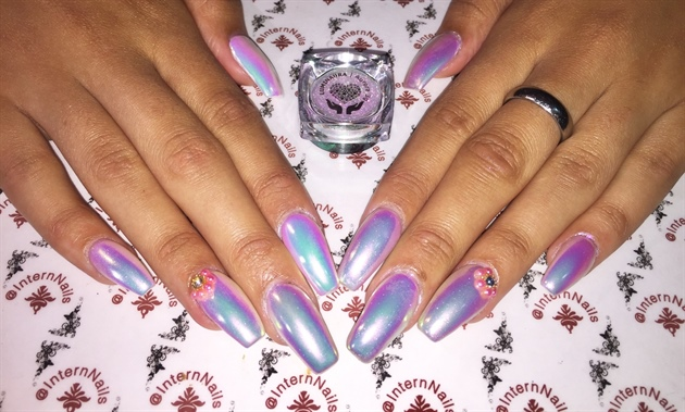 Luminaura Aurora unicorn nails