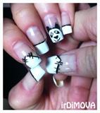 Panda french manicure
