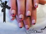 Ribbon black and pink