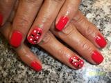 Halloween baby spiders nail art