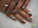 Halloween nail art (freehand)