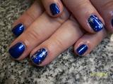 Christmas freehand nail art